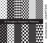 black and white geometric... | Shutterstock .eps vector #156497345