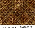 old golden antique mosaic... | Shutterstock . vector #1564980922
