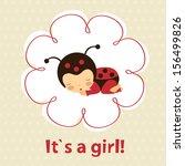 baby girl announcement card... | Shutterstock .eps vector #156499826