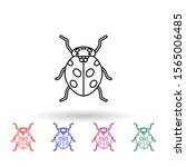 ladybug multi color icon....