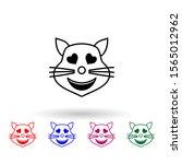 in love cat multi color icon.... | Shutterstock .eps vector #1565012962