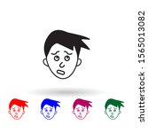 guilt on face multi color icon. ...