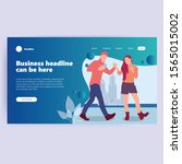 landing page template of... | Shutterstock .eps vector #1565015002