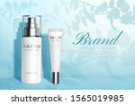 nature skincare products ad... | Shutterstock .eps vector #1565019985