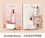 romantic skincare magazine... | Shutterstock .eps vector #1565019988