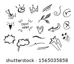 vector hand drawn collection of ... | Shutterstock .eps vector #1565035858