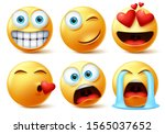 emojis and emoticons face... | Shutterstock .eps vector #1565037652
