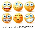 emojis and emoticons face... | Shutterstock .eps vector #1565037655