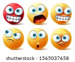 emoticons face vector set.... | Shutterstock .eps vector #1565037658