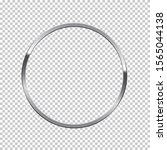 silver ring isolated on... | Shutterstock .eps vector #1565044138