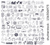 set of hand drawn symbols