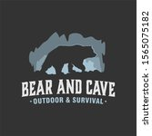 outdoor wild cave bear logo ...   Shutterstock .eps vector #1565075182