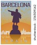 Barcelona Vintage Poster In...
