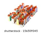 the painted wooden models of... | Shutterstock . vector #156509345