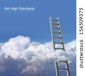 Blue Sky With Clouds And Ladder ...