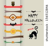 set of halloween ribbons and...   Shutterstock .eps vector #156512846