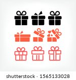 Gift Boxes  Vector Work Set...
