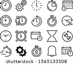 clock vector icon set such as ... | Shutterstock .eps vector #1565133508