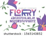 modern typeface with decorative ... | Shutterstock .eps vector #1565143852