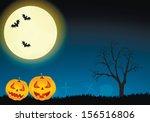 halloween vector card. vector... | Shutterstock .eps vector #156516806