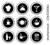 food and restaurant icons... | Shutterstock .eps vector #156520082