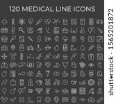 set of 120 vector line icons... | Shutterstock .eps vector #1565201872