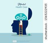 mental health care treatment... | Shutterstock .eps vector #1565222935