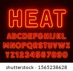 neon rounded font  glowing... | Shutterstock .eps vector #1565238628
