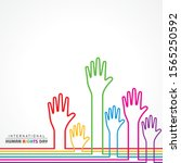 international human rights day...   Shutterstock .eps vector #1565250592