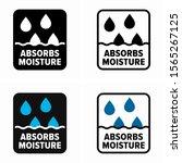 absorbs moisture  hydroscopic... | Shutterstock .eps vector #1565267125
