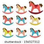 set of patchwork horses....   Shutterstock .eps vector #156527312