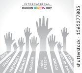 international human rights day...   Shutterstock .eps vector #1565277805