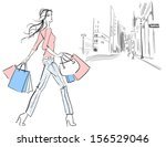 woman shopping. girl with...