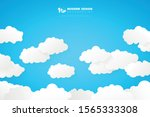 abstract white clouds on blue...   Shutterstock .eps vector #1565333308