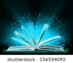 book. opened book with special... | Shutterstock . vector #156534092
