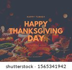 Happy Thanksgiving Day Banner...