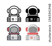 astronaut avatar icons. with...