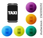 black taxi call telephone... | Shutterstock .eps vector #1565350252