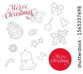 merry christmas and new year... | Shutterstock .eps vector #1565357698