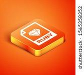 isometric ruby file document.... | Shutterstock .eps vector #1565358352