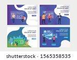 virtual reality analytics set.... | Shutterstock .eps vector #1565358535