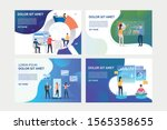 set of images with people... | Shutterstock .eps vector #1565358655