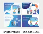 set of images with people... | Shutterstock .eps vector #1565358658
