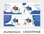 collection of flat vector... | Shutterstock .eps vector #1565359468