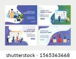 analyzing employees set.... | Shutterstock .eps vector #1565363668