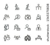 career line icon set. set of... | Shutterstock .eps vector #1565370838
