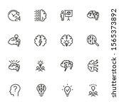 brainstorming line icon set.... | Shutterstock .eps vector #1565373892