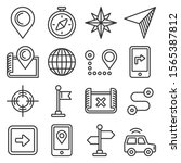 map and navigation icons set on ...   Shutterstock .eps vector #1565387812