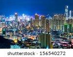 hong kong cityscape at night | Shutterstock . vector #156540272