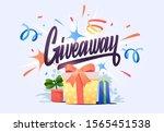 gift box  on confetti... | Shutterstock .eps vector #1565451538